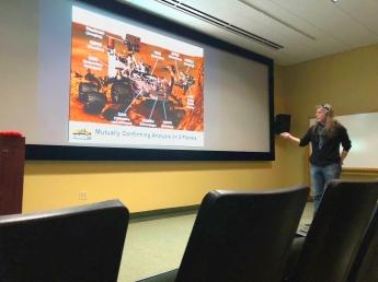 Carnegie scientist Andrew Steele explains his instument on the Curiosity Rover